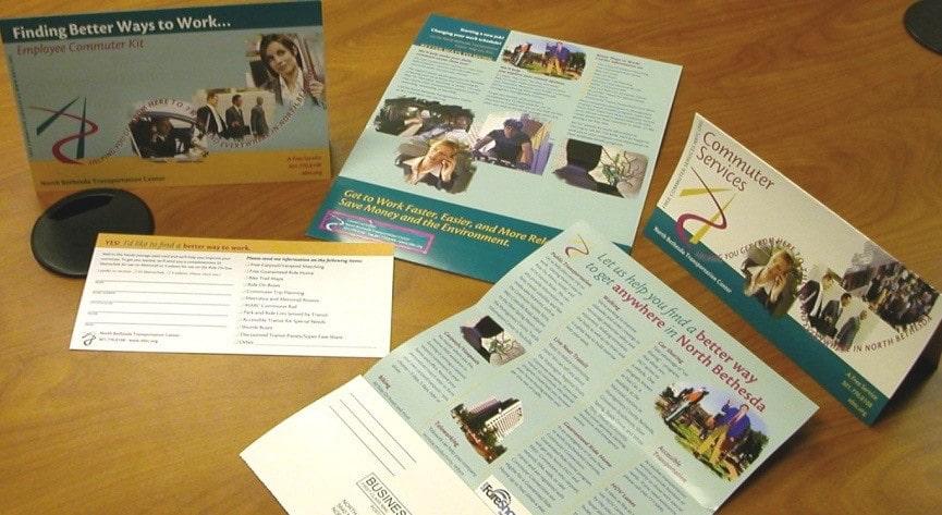 Brochures for Public Transportation in North Bethesda Maryland